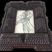 Antique Tramp Art Frame