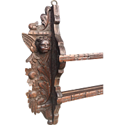 Oak Wood Putti - Angel Wall Display - Plate Rack