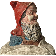 Johann Maresch Tobacco Jar Canister w. Gnome Late 1800's, early 1900's
