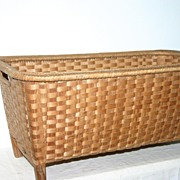 SALE An Antique large Woven Basket, from circa 1920.