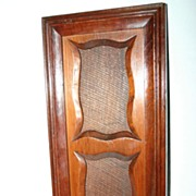 SALE An English Antique Carved Wooden Double Picture Frame