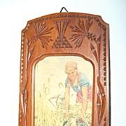 SALE An Art Nouveau Fine Carved Wooden Picture Frame