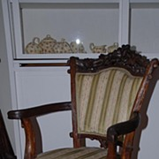 A Rare Antique Finest Carved Wood(walnut) Black Forest Hunting Armchair