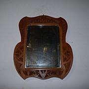 SALE An Antique Folk Art Fine Carved Wood Wall Mirror