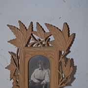SALE An Antique Finest Carved Wood Picture Frame