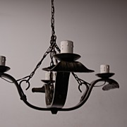 SALE An Old Spanish Wrought Iron 4-light Chandelier