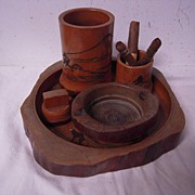 6 pieces Quality Carved Wood Smoke Set