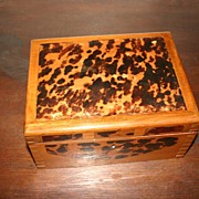 Art Deco Wooden/ Faux Tortoise Jewelry or Treasure Box