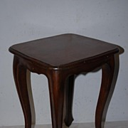 Lovely wooden(walnut) side table with carved legs