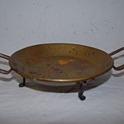 Antique 18thc Brass/Copper Bacon Pan Server.