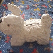 Adorable Vintage SCOTTIE Bank Ceramic Marked Japan Mint!