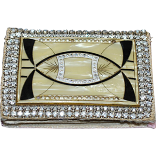 SALE LAST CHANCE! Art Deco 1920's Celluloid Rhinestone Purse