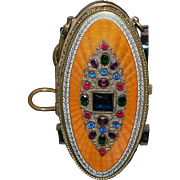 Austrian Jeweled Enamel Vanity Bag Compact Purse
