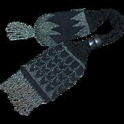 Antique 19th Century Miser Purse Bag Cut Steel Beads