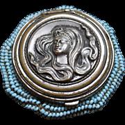 SOLD Antique Tam O Shanter Coin Purse Art Nouveau Lady