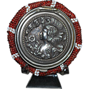 SOLD Antique Tam O Shanter Coin Purse Art Nouveau Lady Beaded