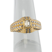 Rich 18K Gold Emerald cut VVS-1/FG Diamond Ring LAYAWAY is available