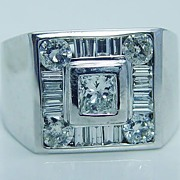 Estate Jewelry 14K Gold .85ct Diamond Men's Ring LAYAWAY is available