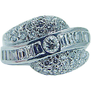 Estate 1.31ct Diamond 14K White Gold Ring Band + VIDEO Layaway is available