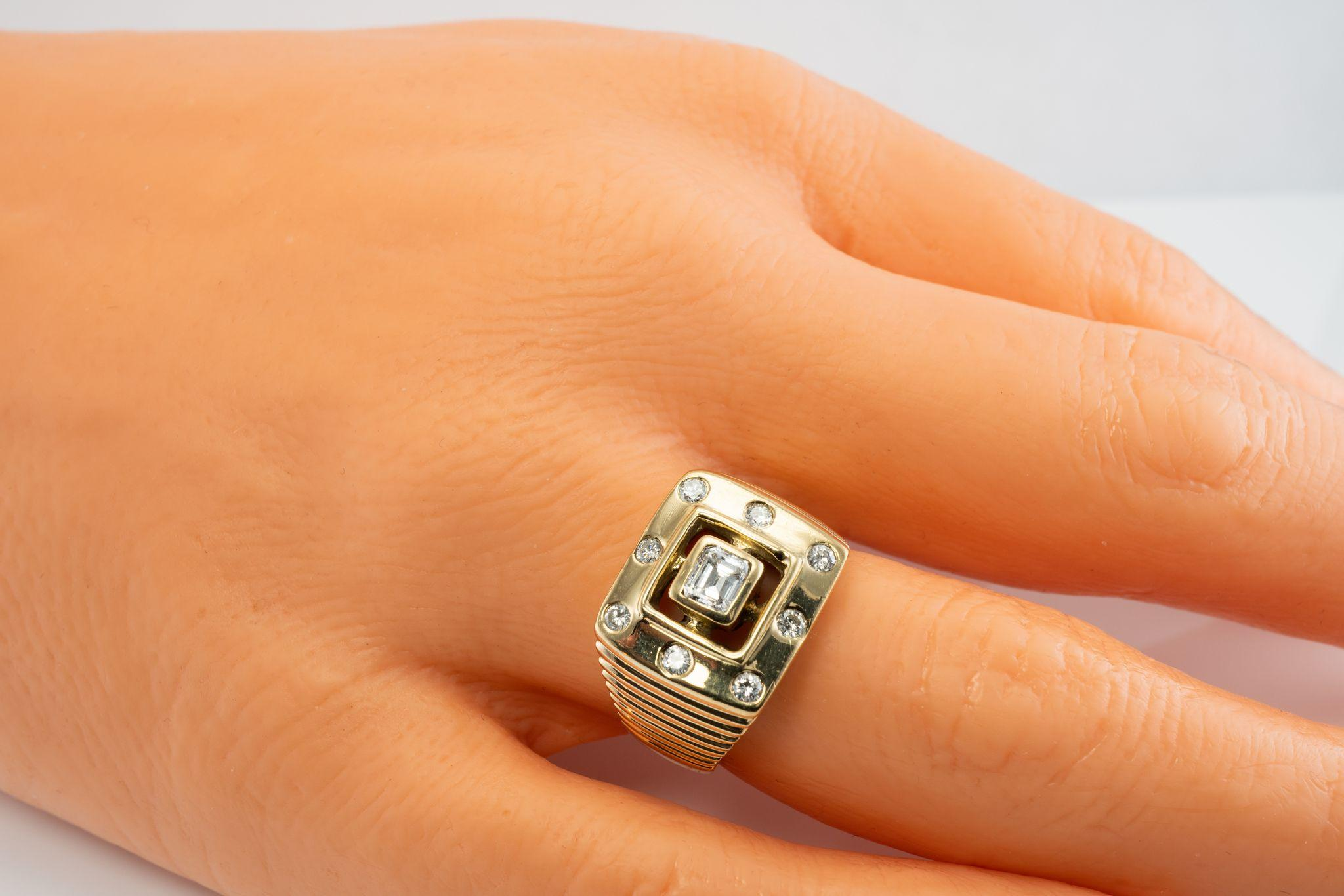 estate jewelry 14k yellow gold mens ring 14 6