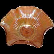 Fenton, Marigold, Stippled Rays, Carnival Glass Bowl