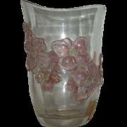 Rare, Dorflinger, Stained, Art Glass Vase