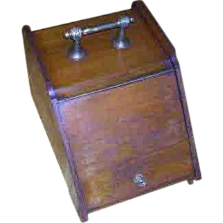 Late 1800's-Early 1900's, Wooden Coal Box, W/Liner