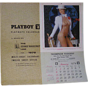 Complete, 1978, Playboy Playmate Calendar W/Original Sleeve