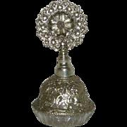 Medium Size, Silvertone-Metal & Glass, Perfume Bottle