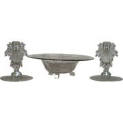 Elegant, New Martinsville, 3 Pc., Console Set