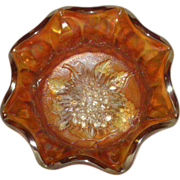 Imperial, Marigold, Heavy Grape, Carnival Glass Berry Bowl