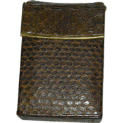 Lady Bosca, West German, Cobra Skin, Cigarette Case