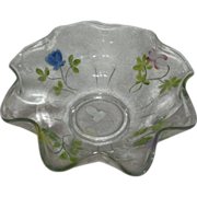 Fenton, Enamel Decorated Bowl