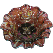 SOLD Millersburg, Amethyst, Grape Wreath, Carnival Glass Bowl