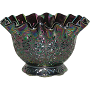 SOLD Summit Art Glass, Amethyst, Daisy and Button, Carnival Glass Bowl