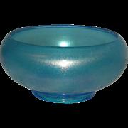 Dugan, Harding/Celeste Blue, Stretch/Carnival Glass Console Bowl