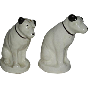 Pair, Radio Corp. of America, RCA Dog Salt and Pepper Shakers