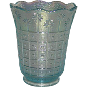 Imperial, Block and Daisy, Carnival Glass Vase