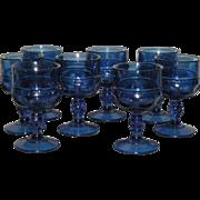 Eight, Cobalt Blue, Indiana/Tiara, Kings Crown Stemmed Wines