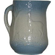 Blue, Salt Glazed, Milk/Water Pitcher