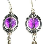Sterling Silver and Amethyst Spheres – Earrings