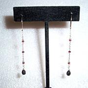 14kt White Gold Black and White Diamond Fantasy Earrings