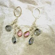 SS Topaz Brio Trio - Earrings