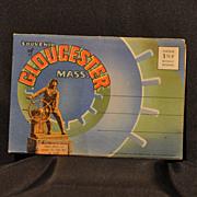 """1945 """"Souvenir of Gloucester Mass."""" Linen Folder of Postcards by Curt Teich & Co. Chicago"""