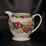 SALE Sadler Milk Pitcher Hand Painted Rose Garden Pattern