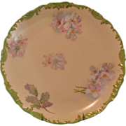 SALE T&V Limoges Charger Serving Plate with Pastel Floral Design
