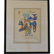 SALE 1950's Hand Painted Draft of Commercial Advertising by American Academy of Art in ...
