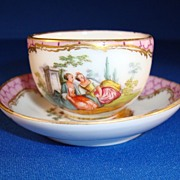 SALE Dresden Cup and Saucer Signed AR, Helena Wolfsohn