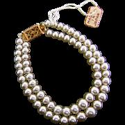 Vintage Orig Madame Alexander Cissy Doll Jewelry Pearl Necklace Miss Revlon