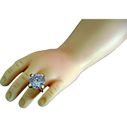 Vintage Madame Alexander Cissy Doll Jewelry Rhinestone Amethyst Color Ring